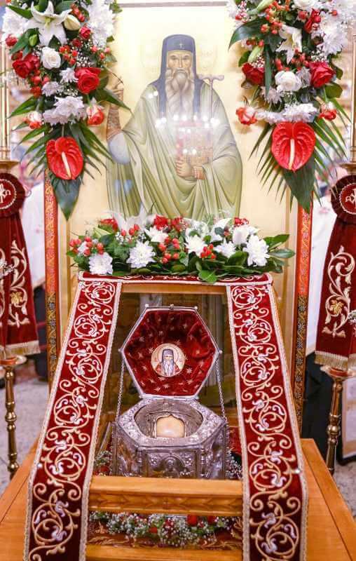 Moaștele Sfântului Cuvios Teofan cel Nou de la Dochiariu, Muntele Athos făcătorul de minuni 19 august